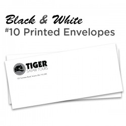 B&W #10 Printed Envelopes