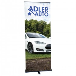 """Contender Mega 35.5"""" Retractable Banner Stand with Bag"""