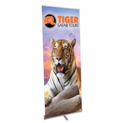 "Pacific Retractable Banner Stand 31.5"" in Silver"