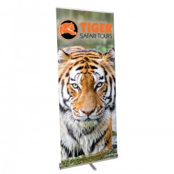 """Pacific Retractable Banner Stand 35.5"""" in  Silver"""