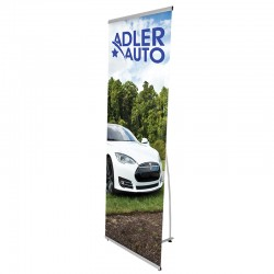 "Lightning Banner Stand  31""W x 77""H"