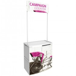 Campaign Promotional Counter with Internal Shelf Counter