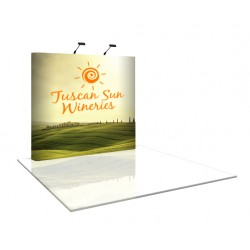 8' wide x 8' high Straight Pop Up Trade Show Display