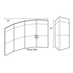 EFEX 2203 Four Panel Display Boards 80W x 83H