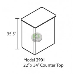 "EFEX 2901 Display Counter 22""w x 34""l x 35.5""H"