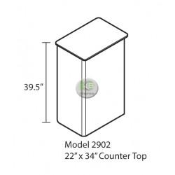 "EFEX 2902 Display Counter 22""w x 34""l x 39.5""H"