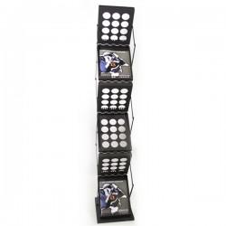 Zedup-1 Black Literature Rack