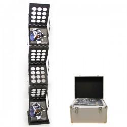 Zedup-1 6-Pocket Literature Rack in Black with Hardcase
