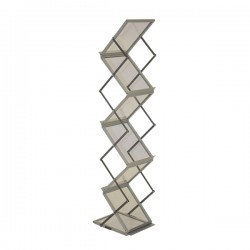 6 Pocket Literature Rack/Silver with Nylon Carry Bag