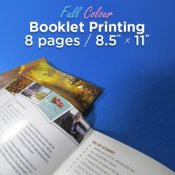 8 Page, Full Colour, 8.5x11 Booklets