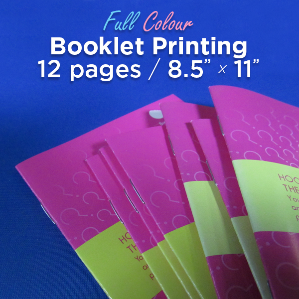 12 Page, Full Colour, 8.5x11 Booklets