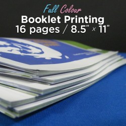 16 Page, Full Colour, 8.5x11 Booklets