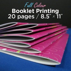 20 Page, Full Colour, 8.5x11 Booklets
