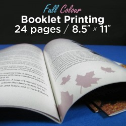 24 Page, Full Colour, 8.5x11 Booklets