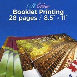 28 Page, Full Colour, 8.5x11 Booklets