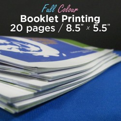 20 Page, Full Colour, 5.5x8.5 Booklets
