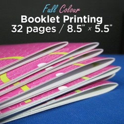 32 Page, Full Colour, 5.5x8.5 Booklets