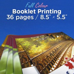 36 Page, Full Colour, 5.5x8.5 Booklets