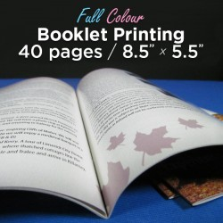 40 Page, Full Colour, 5.5x8.5 Booklets