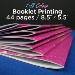 44 Page, Full Colour, 5.5x8.5 Booklets