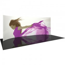 20' Horizontally Curved Fabric Display