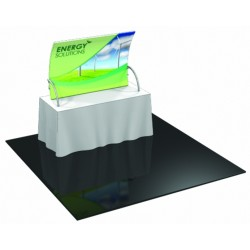 Table Top Fabric Trade Show Display with Front Leg