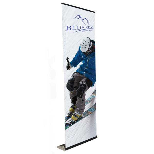 "Elevate 33.25""w x 8' high  Retractable Banner Stand"