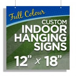 """12""""x18"""" Custom Indoor Hanging Signs"""
