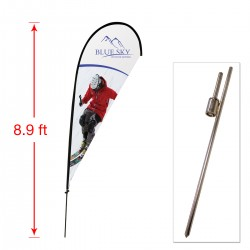 Medium Outdoor Teardrop Flag with Ground Stake