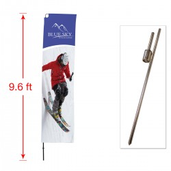 Medium Outdoor Straight Flag with Ground Stake