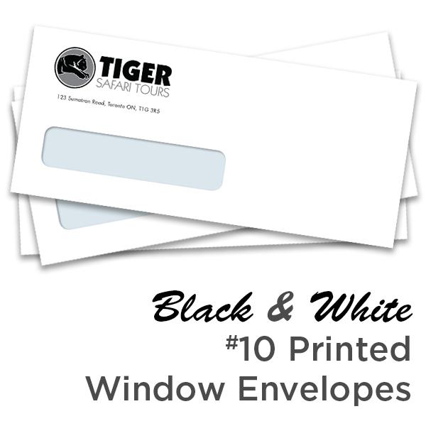 B&W #10 Printed Window Envelope