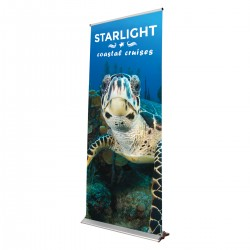 "Blade Lite 23.5""w x 83.25""h Retractable Banner Stand"