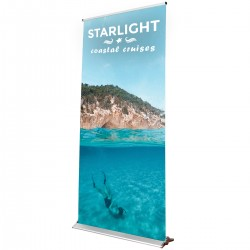 """Blade Lite 47.25""""w x 83.25""""h Retractable Banner Stand"""