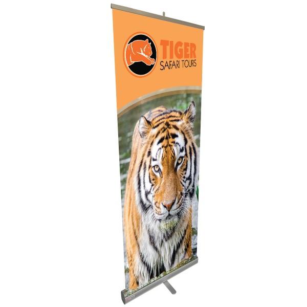 "Econo-Tough - 24""w x 60""h Wide Retractable Banner Stand"