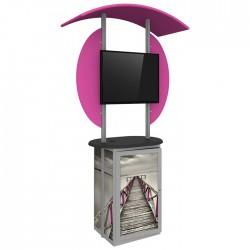 Linear Trade Show Monitor Kiosk 01