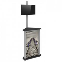 Linear Trade Show Monitor Kiosk 05