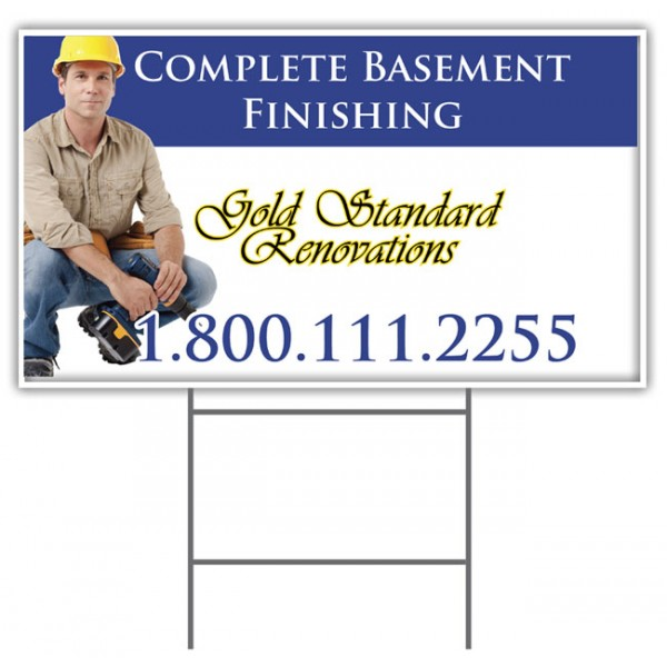 """4mm Coroplast Sign - 12"""" x 12"""" Printed Both Sides"""