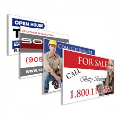 """6mm Coroplast Sign - 12"""" x 24"""" Printed One Side"""