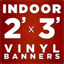 2' x 3' Indoor Vinyl Banner