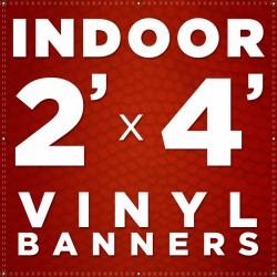 2' x 4'  Indoor Vinyl Banner