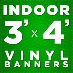 3' x 4' Indoor Vinyl Banner