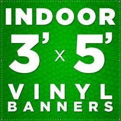 3' x 5' Indoor Vinyl Banner