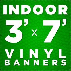 3' x 7' Indoor Vinyl Banner