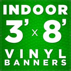 3' x 8' Indoor Vinyl Banner