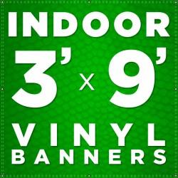 3' x 9' Indoor Vinyl Banner
