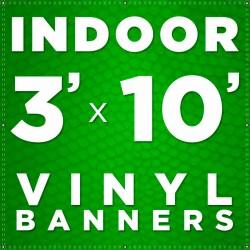 3' x 10' Indoor Vinyl Banner