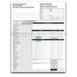 Electrical Work Order Invoice