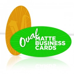 "2"" x 3.5"" Oval Matte Business Cards"