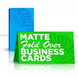 "3.5"" x 4"" Matte Fold Over Business Card"