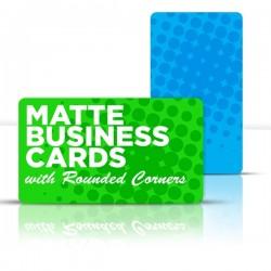 """2"""" x 3.5"""" Matte Round Corner Business Cards"""
